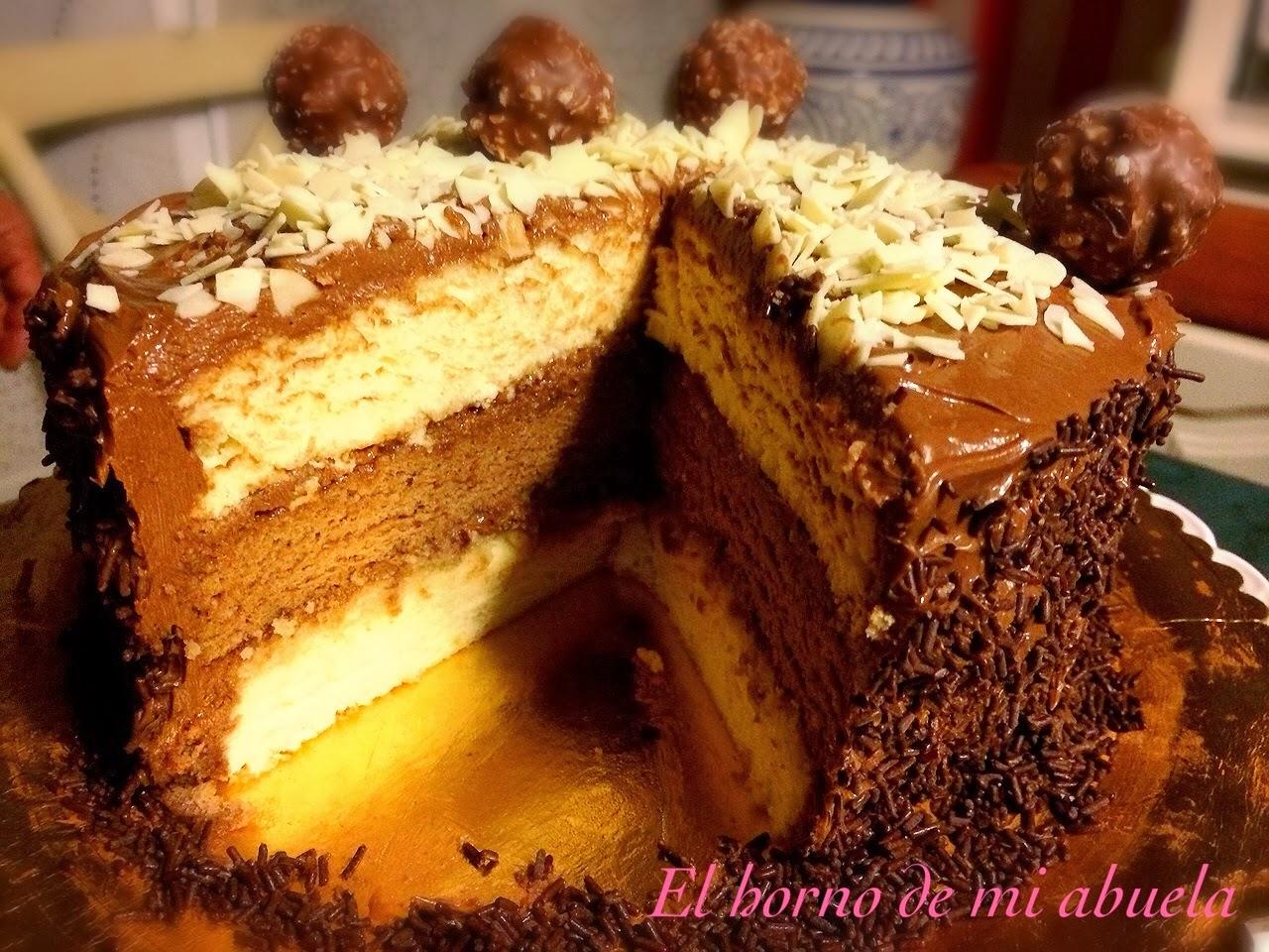 Tarta de Ferrero y palmeritas
